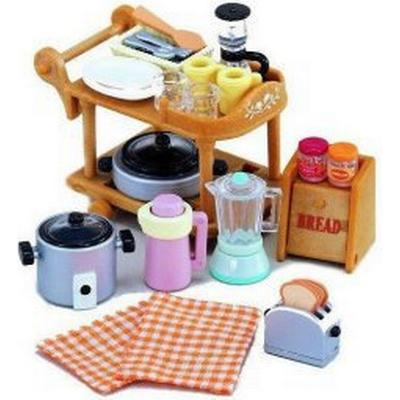 Sylvanian Families Kitchen Cookware Trolley Set