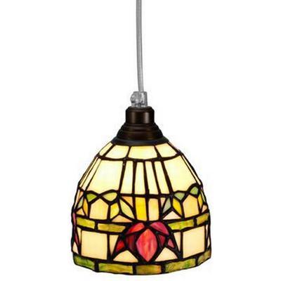 Nostalgia Fuchsia Tiffany Pendant Lamp Fönsterlampa