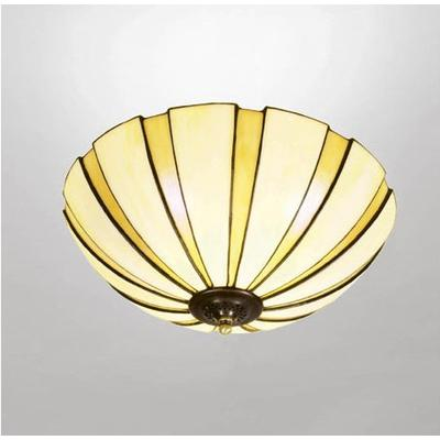 Nostalgia Coupe Amber 45cm Tiffany Ceiling Lamp Taklampa