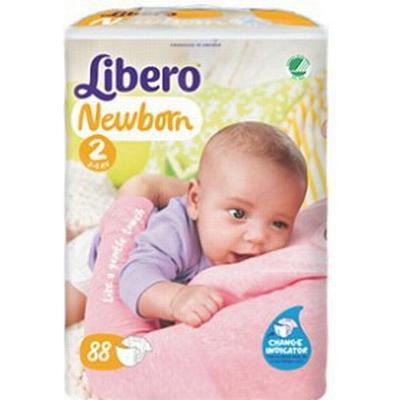 Libero Newborn 2, 3-6kg, 88 pcs