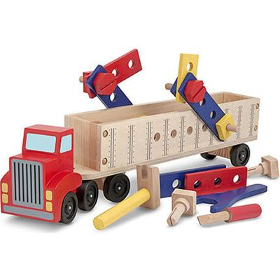 Melissa & Doug Big Rig Building Truck Wooden