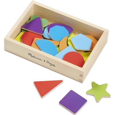 Melissa & Doug Magnetic Wooden Shapes & Colors
