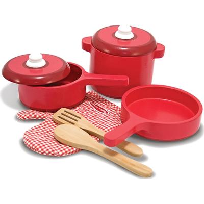 Melissa & Doug Play Kitchen Accessory Set Pot & Pans