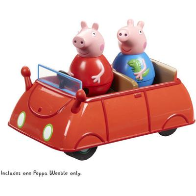 Peppa Pig Weebles Push Along Wobbly Car