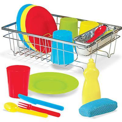 Melissa & Doug Lets Play House Wash & Dry Dish Set