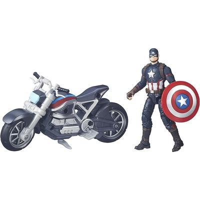 Hasbro Marvel Legends Series Captain America & Motorcycle B6354