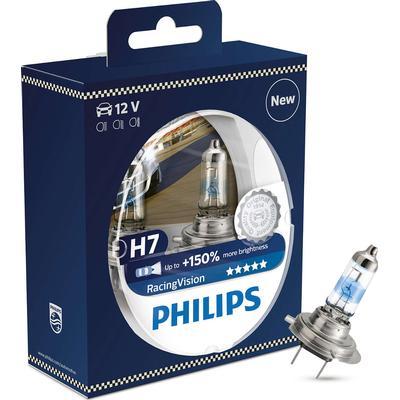 Philips Racing vision H7 pære +150% mere lys (2 stk)