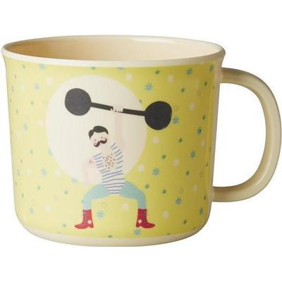 Rice Baby Melamine Cup with Boy Circus Print