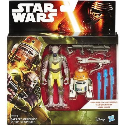 "Hasbro Star Wars Rebels 3.75"" Figure 2 Pack Forest Mission Garazeb Orrelios & C1-10P B3962"