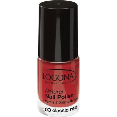 Logona Natural Nail Polish Classic Red 4ml