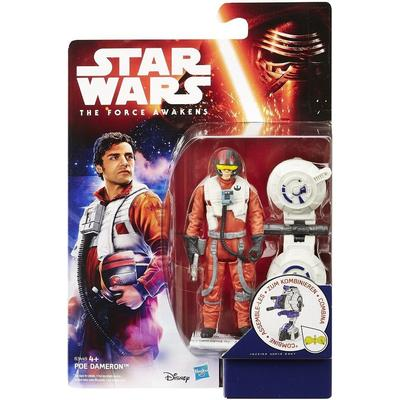 "Hasbro Star Wars the Force Awakens 3.75"" Figure Space Mission Poe Dameron B3449"