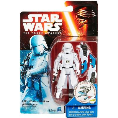 "Hasbro Star Wars the Force Awakens 3.75"" Figure Snow Mission First Order Snowtrooper B4168"