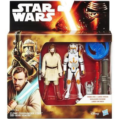"Hasbro Star Wars Revenge of the Sith 3.75"" Figure 2 Pack Desert Mission Obi-Wan and Commander Cody B3958"