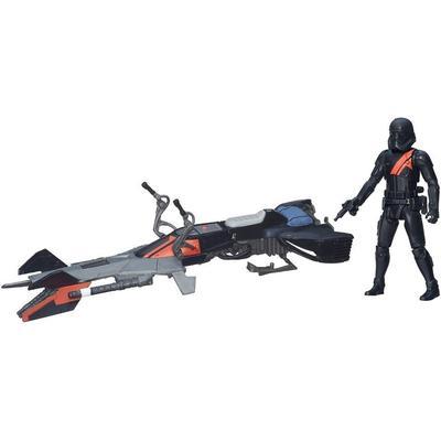 "Hasbro Star Wars the Force Awakens 3.75"" Vehicle Elite Speeder Bike B3718"