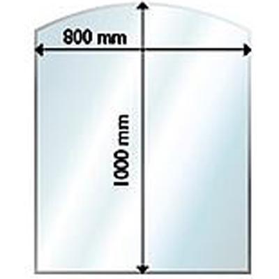 Aduro Glass Floor Hearth Curved 6mm 100X80cm