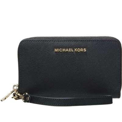 MICHAEL Michael Kors Jet Set Travel Large Smartphone Wristlet - Black (32H4GTVE9L)