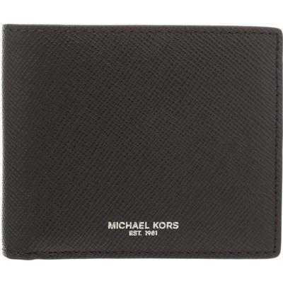 Michael Kors Harrison Leather Billfold Wallet - Black (39F5LHRF3L)