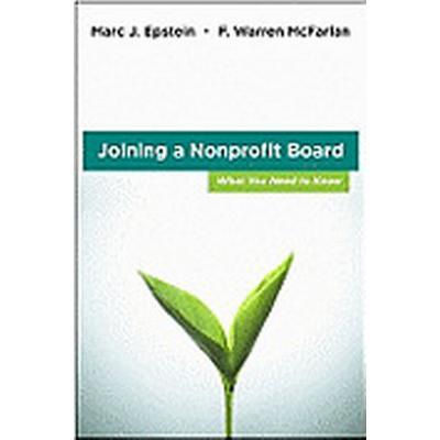 Joining a Nonprofit Board (Inbunden, 2011)