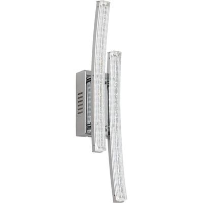 Eglo Eglo 96097 LED-Vägglampa Pertini 2X3W krom/transparent Vägglampa