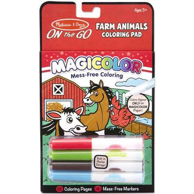 Melissa & Doug Magicolor On the Go Farm Animals Coloring Pad