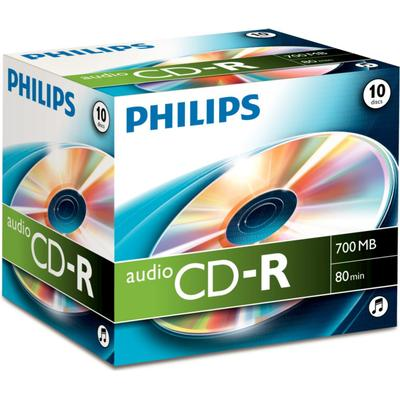 Philips CD-R 700MB Jewelcase 10-Pack