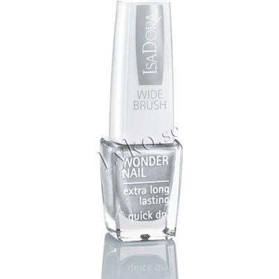 Isadora Wonder Nail Wide Brush #651 Silver Sparkles 6ml