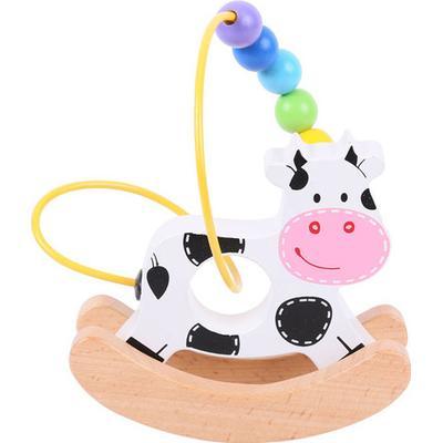 Bigjigs Rocking Bead Frame Cow