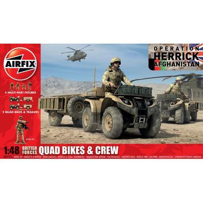 Airfix British Quad Bikes & Crew A04701