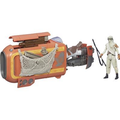"Hasbro Star Wars the Force Awakens 3.75"" Vehicle Rey's Speeder Bike Jakku B3676"