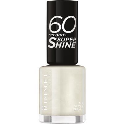 Rimmel 60 Seconds Super Shine Nail Polish Silver Bullet An Off White 8ml