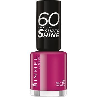 Rimmel 60 Seconds Super Shine Nail Polish Funtime Fushia 8ml