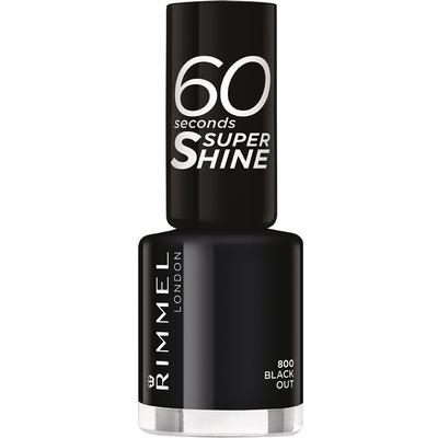 Rimmel 60 Seconds Super Shine Nail Polish Black Out 8ml