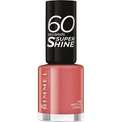 Rimmel 60 Seconds Super Shine Nail Polish Instyle Coral an Orange Pink 8ml