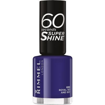 Rimmel 60 Seconds Super Shine Nail Polish Royal So & So a Bright Purple 8ml