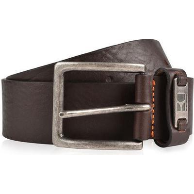 Hugo Boss Branded Metal Loop Leather Belt Dark Brown (50180958)