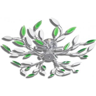 vidaXL With Green & White Acrylic Sheet 5 Taklampa