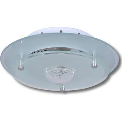 vidaXL Ceiling Lamp With Crystal Glass Round Taklampa, Vägglampa