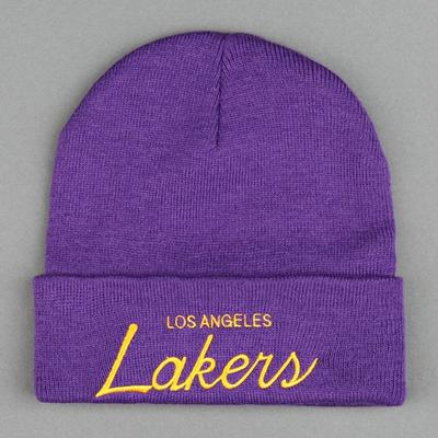 Mitchell & Ness Los Angeles Lakers Script Cuffed Beanie