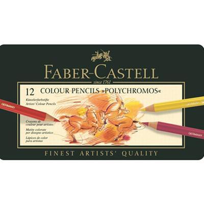 Faber-Castell Colour Pencils Polychromos Tin of 12