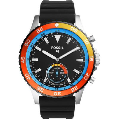Fossil Q Crewmaster Hybrid Black Silicone