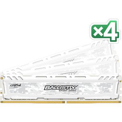 Crucial Ballistix Sport LT White DDR4 2666MHz 4x8GB (BLS4C8G4D26BFSC)