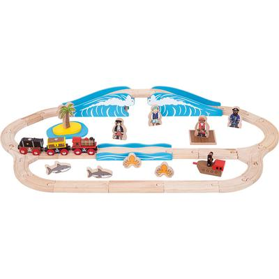 Bigjigs Pirate Train Set