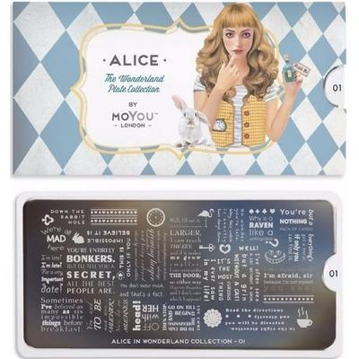 MoYou London Stamping Plate #01 Alice