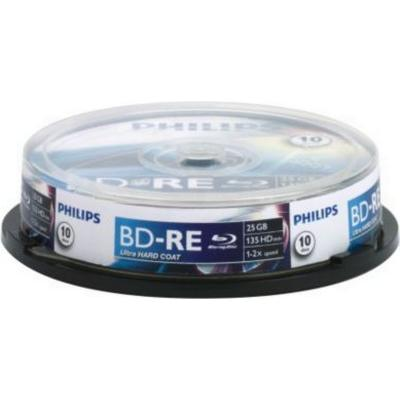 Philips BD-RE 25GB 2x Spindle 10-Pack