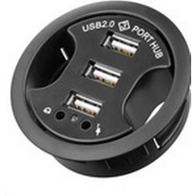 MicroConnect USB-HUB3 3-Port USB 2.0 Extern