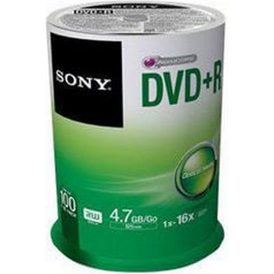 Sony DVD+R 4.7GB 16x Spindle 100-Pack