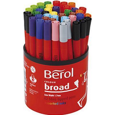 Berol Colour Broad Fibre Tipped Pen 1.7mm 42-pack