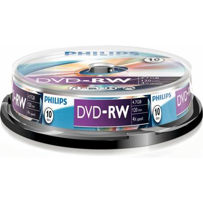 Philips DVD-RW 4.7GB 4x Spindle 10-Pack