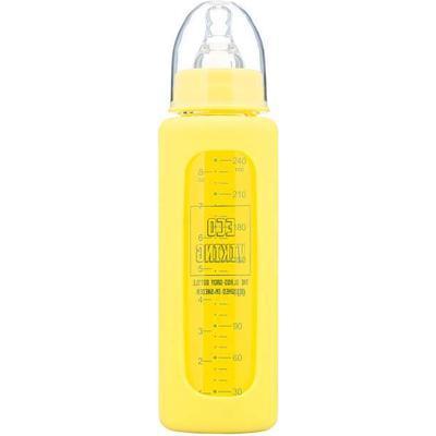 Eco Viking Glass Baby Bottle Daisy Yellow 240ml