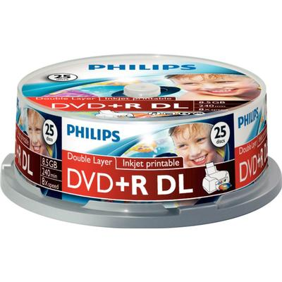 Philips DVD R 8.5GB 8x Spindle 25-Pack